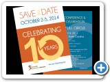 """Celebrating 10 Years"" Mailer Design #indiaSheana"