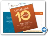 """Celebrating 10 Years"" Brochure Design #indiaSheana"